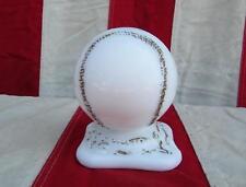 Vintage Antique Baseball White Slag Glass Ball on Base 1930s-1940s Official Size