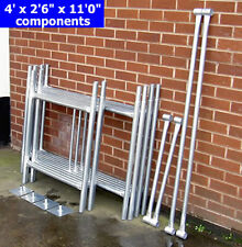 "DIY Scaffold Tower 5.2m (4' x 2'6"" x 17'0"" WH) Galvanised Steel"