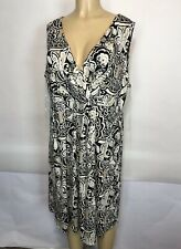 St Johns Bay NEW $60 Floral V Neck Dress Women's Plus Size 2X Sleeveless Casual