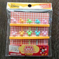 Walt Disney Mickey Mouse Plastic Food Picks 10 pcs Original Package from Japan