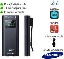 MICRO REGISTRATORE SPIA AUDIO ATTIVAZIONE VOCALE 16 GB SPY MINI AMBIENTALE USB