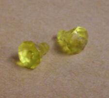 2 Lego Kristalle Rock 1 x 1 Steine Diamanten Rock Raiders Zubehör gelb Neu