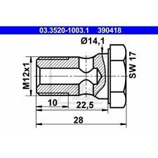1 Hohlschraube ATE 03.3520-1003.1 passend für HANOMAG KÄSSBOHRER MAGIRUS-DEUTZ