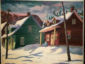 Canadian painting  LISTED ARTIST STUNNING LARGE PAINTING SIGNED