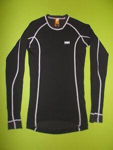 Shirt HELLY HANSEN (M) Merino Wool PERFECT !!! Base Layer SKI RUNNING Black