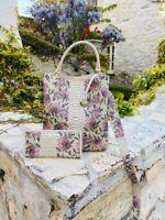 NWT Brahmin Ivory Labyrinth Floral Leather Amelia Bucket Bag/wallet options
