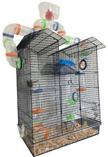 Black Large 5-Floor Tower Hamster Habitat Rodent Gerbil Mouse Mice Rat ClearBase