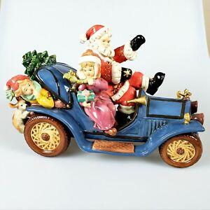 Grandeur Noel Collector's Edition  Porcelain Santa On Wheels New