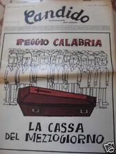 CANDIDO REGGIO CALABRIA 1 OTTOBRE 1970