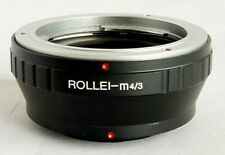 Rollei QBM Lens to Micro 4/3 M4/3 M43 Mount Adapter GF3 GX1 EP3 OM-D RO-M43