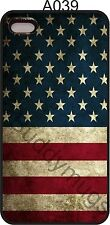 American Flag Worn Red White Blue Stars Case Fits iPhone 4s 5s 7 8 XS A039