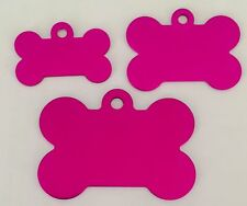 50 Hot Pink Pet identification tags Anodized Aluminum Laser blank wholesale GI