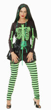SKELETON LADY GOTH FANCY DRESS WOMANS HALLOWEEN COSTUME  SIZE 12-14 HB REDUCED