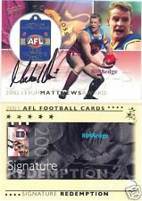 2003 SELECT AFL SIGNATURE REDEMPTION: MICHAEL VOSS #88/100 AUTOGRAPH LIONS