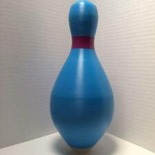 Duckpin Bowling Pin Colored Brand New Blue Duckpin With Purple Neck Marker