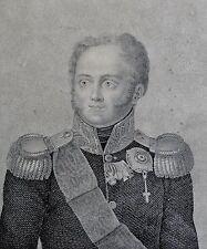 Kupferstich um 1840: ALEXANDER I  Kaiser Russland von Jacob Felsing (1802-1883)