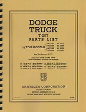 Parts List Manual ~ 1/2 Ton Dodge Truck WC ~ WWII ~ Reprnt