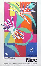 HENRI MATISSE Original poster Nice, France Cote D'Azur 1965 linen backed