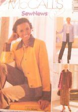 NUOVO (FF) + VINTAGE 2002 'MC Call's' Giacca Pantaloni + Sewing Pattern 3750 Taglie -6-12