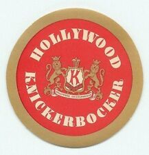 LOS ANGELES CALIFORNIA HOLLYWOOD KNIKERBOCKER HOTEL VINTAGE LUGGAGE LABEL