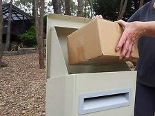PARCEL LETTERBOX MAIL DROP BOX MAILBOX POST SAND COLOR PARCELBOX PIER CREAM