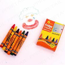 12 x FUN WASHABLE CRAYONS Colour Pack Fridge/Metal Wipe Surface/Kids EASY CLEAN