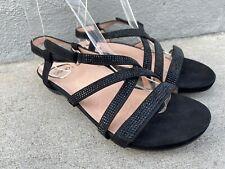 Abeo Bio System Laguna Slingback Comfort Sandals Black Sparkle Leather US W N 6