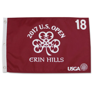 2017 US Open Championship Screen Printed Flag - Red - Erin Hills