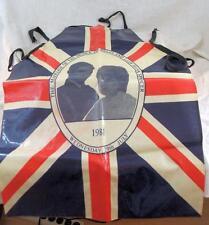 Rare - Prince Charles & Lady Diana - Royal Wedding - 1981 - PVC - Apron