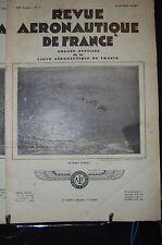 revue aéronautique de france , AVIATION  1930;Avr.Mai. N°4, SOMMAIRE VOIR PHOTO