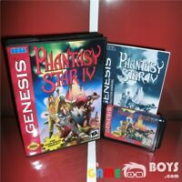 Phantasy Star IV 4 Game Cartridge SEGA Genesis Boxed Manual USA Version NTSC-U/C