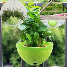 Hanging Flower Plant Planter Basket For Plants Pot Holder With Chain Green 3 Pcs
