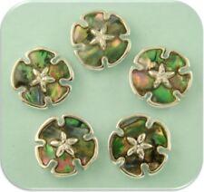 2 Hole Beads Abalone Sand Dollars OCEAN SEA BEACH Seashells Metal Jewelry QTY 5