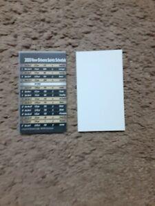 2020 New Orleans Saints (National Football League) football pocket card schedule
