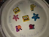 SpongeBob,Gary,starfish Lot Of 7 Shoe,Bracelet,Lace Adapter Charms,fit Brands