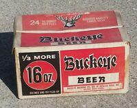 VINTAGE BUCKEYE BEER HEAVY RETURNABLE CASE for 24 Bottles 16 Ounce BOX CARRIER