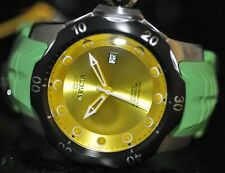 Invicta Mens Rare Venom Sea Dragon Automatic Yellow Dial Green Poly Watch 19301