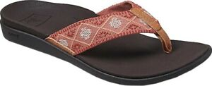 Reef Ortho Bounce Woven Flip Flop (Women's Sandals) in Dusty Coral Rubber - NEW