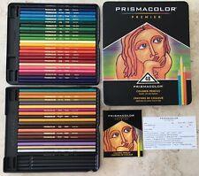 Sanford Prismacolor Premier Colored Pencil Tin 48 Unsharpened pencils 4 missing