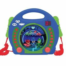 LEXIBOOK PJ MASKS CD PLAYER WITH MICROPHONES WITH HANDLE BOYS GIRLS