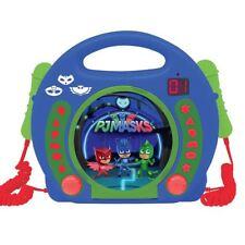 LEXIBOOK PJ MASKS CD PLAYER WITH MICROPHONES & HANDLE BOYS GIRLS