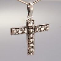 np lo Long OPEN Work Cross Silhouette in STERLING Silver