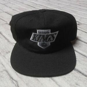 Vintage Deadstock 90s Los Angeles Kings Wool Snapback Hat Cap NHL