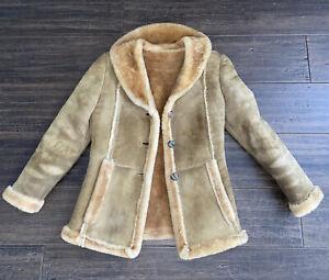VTG Sheep Shack Shearling MARLBORO RANCHER Jacket Coat WOMENS S