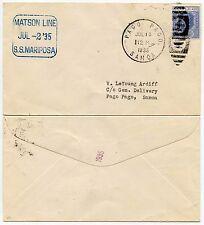 MATSON linea MARITTIMA Fiji a Samoa 1935 PAGO PAGO Duplex KG5th 3d... spedizione Mariposa