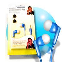IN EAR STEREO Kopfhörer 3,5mm Klinke Stereokopfhörer + 4 Silikon Ohrstöpsel blau
