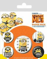 Despicable Me 3 Breakout Badge Pack of 5 Safety Pin Backed Badges