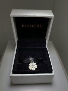 charm pandora originale Pendente Fiore Bianco