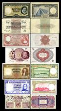 2x 10 - 1000 niederländische Gulden - Ausgabe 07.05.1945 - 14 alte Banknoten- 07