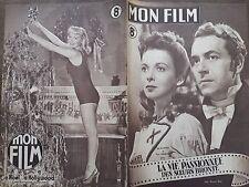 "MON FILM 1947  N 74 "" LA VIE PASSIONNEE DES SOEURS BRONTË ""avec IDA LUPINO"